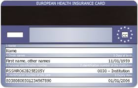 Tessera sanitaria. European Health Insurance Card